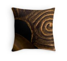 Brass Whorls Throw Pillow