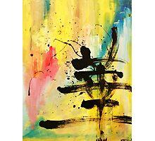 HANA Japanese KANJI painting abstract Photographic Print