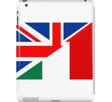 uk italy flag iPad Case/Skin