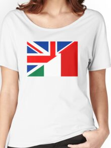 uk italy flag Women's Relaxed Fit T-Shirt