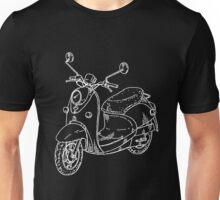 vespa white Unisex T-Shirt