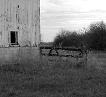Old Barn and Fence by mnkreations