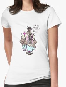 pastel brute Womens Fitted T-Shirt