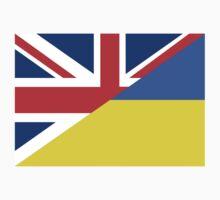 ukraine uk flag Kids Clothes
