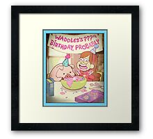 Waddles's Birthday Probably portrait replica Framed Print