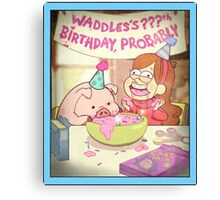 Waddles's Birthday Probably portrait replica Canvas Print