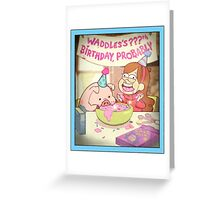 Waddles's Birthday Probably portrait replica Greeting Card