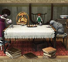 Tea in the attic by Roberta Angiolani