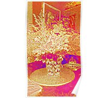 Flowers - Red and gold Poster