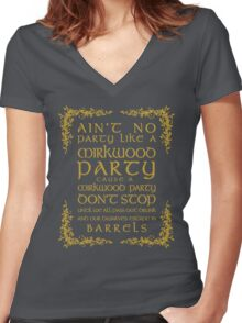 Ain't No Party Like a Mirkwood Party Women's Fitted V-Neck T-Shirt