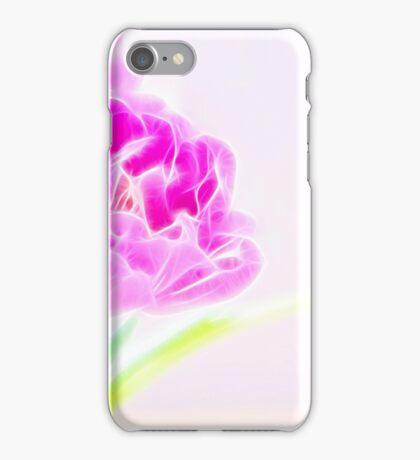 Pretty Pale Fractalius Tulips iPhone Case/Skin
