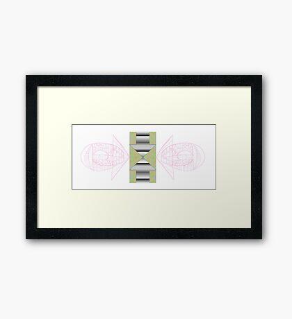 Oppositional Arrows Framed Print