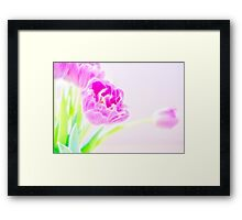 Pretty Pale Fractalius Tulips Framed Print
