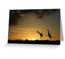 Happy Dancing Giraffes Greeting Card