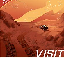 Visit Mars  Travel Style Poster , Space by lynxcollection