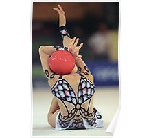 Gymnast with ball. Poster