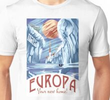 Visit Europa Space Travel Style  Unisex T-Shirt