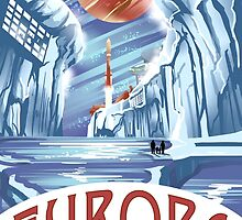 Visit Europa Space Travel Style  by lynxcollection