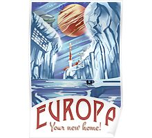 Visit Europa Space Travel Style  Poster