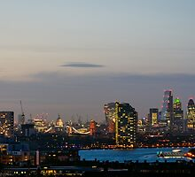 London, skyline from Greenwich by MarcoSaracco