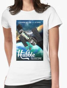 Hubble Telescope Space Travel Poster Womens Fitted T-Shirt