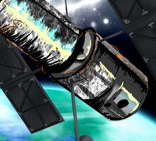 Hubble Telescope Space Travel Poster Sticker