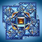 Blue Fractal #1 by Kinnally