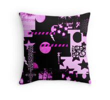 Abstract Patterns Purple Throw Pillow