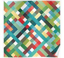 Retro Geometric Pattern Poster