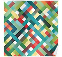 Retro Geometric Pattern Poster
