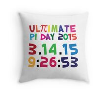Excellent 'Ultimate Pi Day 2015 Color Explosion' T-shirts, Hoodies, Accessories and Gifts Throw Pillow