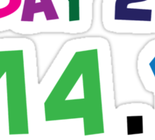 Excellent 'Ultimate Pi Day 2015 Color Explosion' T-shirts, Hoodies, Accessories and Gifts Sticker