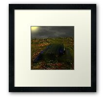 Warped and Weathered Framed Print