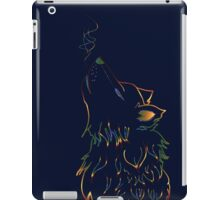 Colorful Howling Wolf iPad Case/Skin