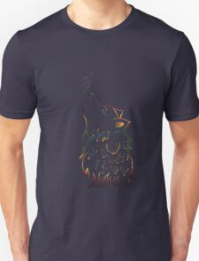 Colorful Howling Wolf Unisex T-Shirt