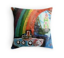 ahoy there  Throw Pillow