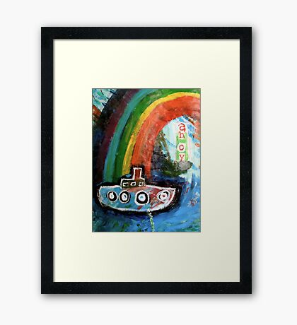 ahoy there  Framed Print