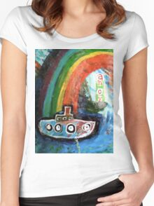 ahoy there  Women's Fitted Scoop T-Shirt