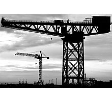 Cranes. Barrow-in-Furness  Photographic Print