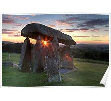 Neolithic Sunset Poster