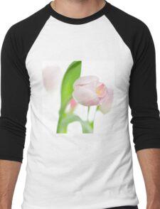 gentle pink tulips Men's Baseball ¾ T-Shirt