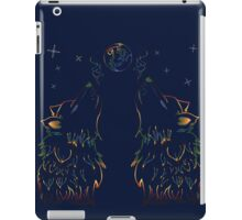 Colorful Howling Wolf 2 iPad Case/Skin