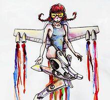 jetpack girl by mirkamanga