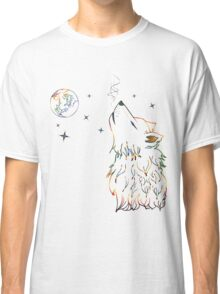 Colorful Howling Wolf 3 Classic T-Shirt