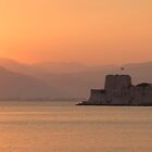 Sunset over Nafplio by Vagelis Georgariou