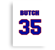 National baseball player Butch Huskey jersey 35 Canvas Print