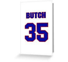 National baseball player Butch Huskey jersey 35 Greeting Card