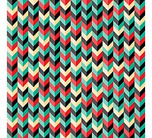 Chevron Wallpaper Photographic Print