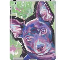 Rat Terrier Dog Bright colorful pop dog art iPad Case/Skin
