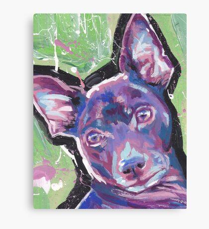 Rat Terrier Dog Bright colorful pop dog art Canvas Print